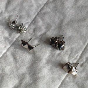 Set of 4 H&M Stud Earrings